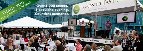 Toronto Taste 2013 and Second Harvest Thanks You