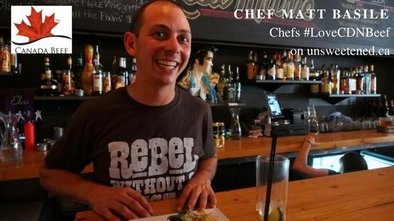 Chef Matt Basile in Chefs #LoveCDNbeef