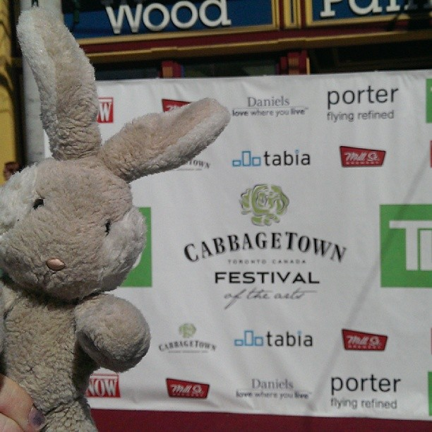 Travel Bunny at the Cabbagetown Festival