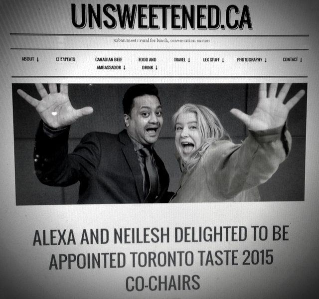 Toronto Taste 2015 %0ACo-Chair Announcement