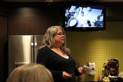 Alexa Clark hosting Cooking Demo