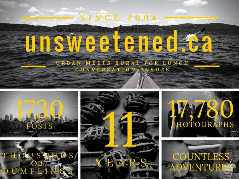 unsweetened.ca's 11th anniversary post header
